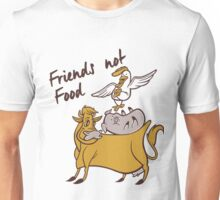 Vegan T-shirt - friends  not Food  Unisex T-Shirt
