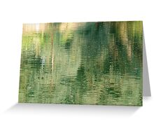 Water abstract. Greeting Card