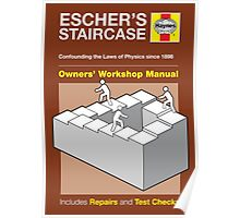 Haynes Manual - M.C. Escher staircase - Poster & stickers Poster