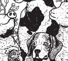 Vegan T-shirt - Liberation for All  Sticker
