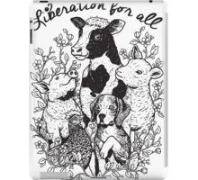 Vegan T-shirt - Liberation for All  iPad Case/Skin