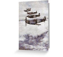 Supermarine Spitfires - WWII Greeting Card