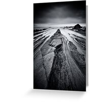 Monochrome Triangles Greeting Card
