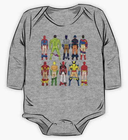 Superhero Butts One Piece - Long Sleeve