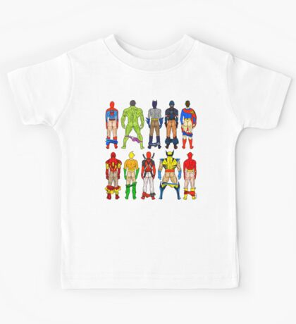 Superhero Butts Kids Tee