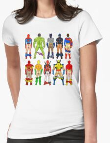 Superhero Butts Womens Fitted T-Shirt