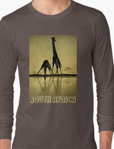 """""""SOUTH AFRICA"""" Travel and Tourism Print Long Sleeve T-Shirt"""