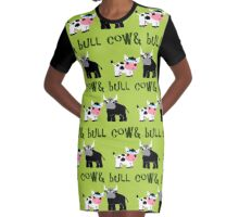 Cow & Bull Graphic T-Shirt Dress