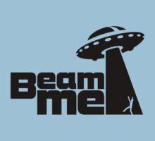 Beam me up V.2.1 (black) Kids Tee
