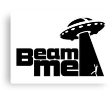 Beam me up V.2.1 (black) Canvas Print