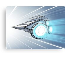 Hyperdrive Spaceship Canvas Print