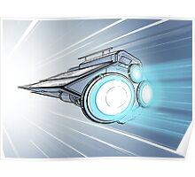 Hyperdrive Spaceship Poster