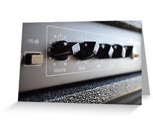 An amplifier of dreams Greeting Card