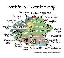 rock 'n' roll weather map Photographic Print