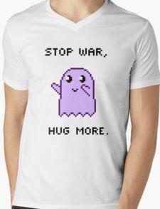 Stop War, Hug More. Mens V-Neck T-Shirt