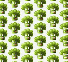 Funny Cartoon Broccoli Pattern Case by Boriana Giormova