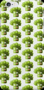 Funny Cartoon Broccoli Pattern Case by Boriana Giormova