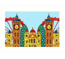 London Icon Building Mozaic Art Print