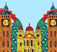 London Icon Building Mozaic by haidishabrina