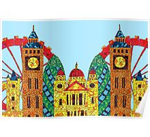 London Icon Building Mozaic Poster
