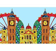 London Icon Building Mozaic Photographic Print