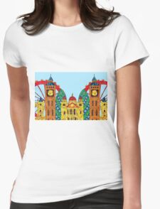 London Icon Building Mozaic Womens Fitted T-Shirt