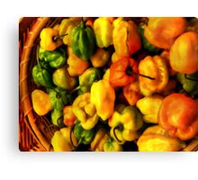 Basket of Hot Canvas Print