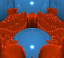 Red Blue Macro Fractal Sticker