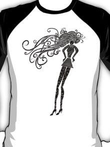 Long hair woman silhouette T-Shirt