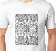 Black and White Paisley Pattern Unisex T-Shirt