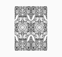 Black and White Paisley Pattern Unisex T-Shirt