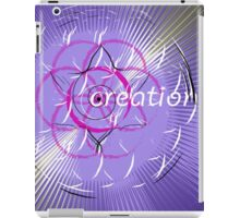 flower of life creation spiraling forth from the center iPad Case/Skin