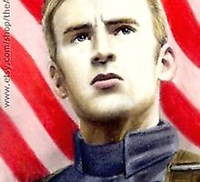Chris Evans miniature by wu-wei