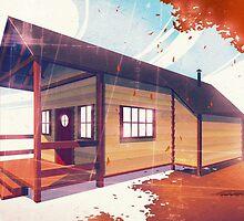 Autumn Cabin by Freddie Horton