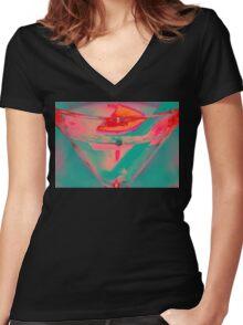 tropi Women's Fitted V-Neck T-Shirt