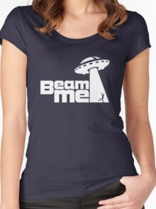 Beam me up V.2.1 (black) Women's Fitted Scoop T-Shirt