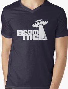 Beam me up V.2.1 (black) Mens V-Neck T-Shirt