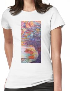 Sunset over the beach Womens Fitted T-Shirt