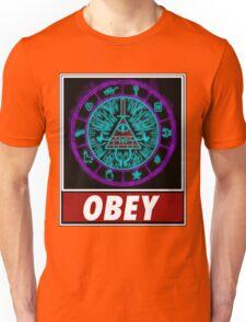 Gravity Falls- bill cipher wheel Obey Unisex T-Shirt