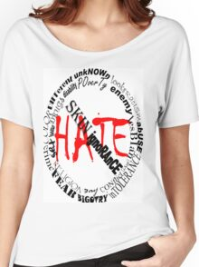 NO MORE HATE Women's Relaxed Fit T-Shirt
