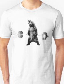 Grizzly Bear Deadlifting T-Shirt