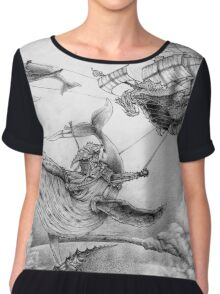 Wind Whales Chiffon Top