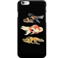 Botanical Fish Trio on Black iPhone Case/Skin