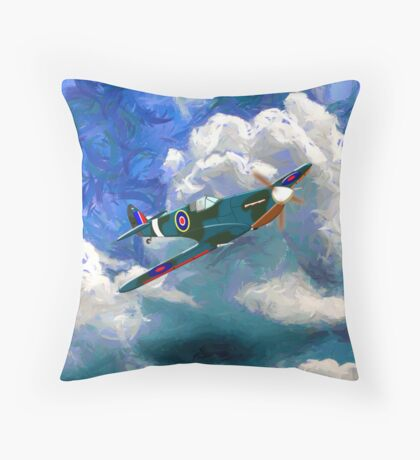 A Supermarine Spitfire - pillows & totes Throw Pillow
