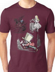 Alice in Wonderland Montage  Unisex T-Shirt