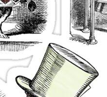 Alice in Wonderland Montage  Sticker