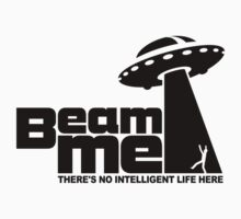 Beam me up V.2.2 (black) Kids Tee