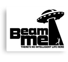 Beam me up V.2.2 (black) Canvas Print