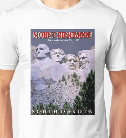 """MOUNT RUSHMORE"" Presidents Sculpture Print Unisex T-Shirt"