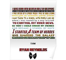 Deadpool being Deadpool Poster